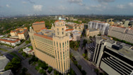 Stock Video Footage of Flying over Coral Gables, Miami, Florida