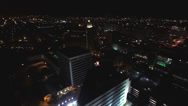 Stock Video Footage of Coral Gables night flight, aerial view of the city
