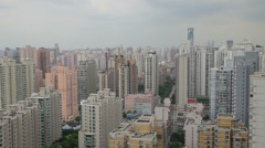 View of Urban scene in Shanghai , Shanghai,  China Stock Footage