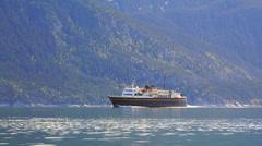 Alaska Marine Highway Ferry LeConte Under Way 4k UHD Stock Footage