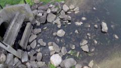 Culvert lake waterway Stock Footage