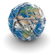 Earth locked in chains Stock Illustration
