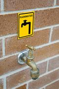 Rainwater Tap - stock photo