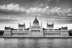 Budapest parliament in monochrome Stock Photos