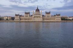budapest parliament asymmetric shot - stock photo