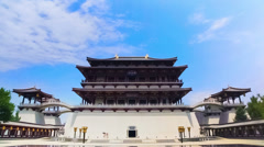 Tang Paradise of Xi'an,  xi'an, shaanxi, China Stock Footage
