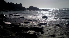 Volcanic beach, La Pared - Fuerteventura, Canary Islands Stock Footage