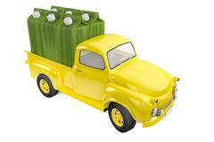 Small lorry with packing of lemon lime juice Stock Illustration