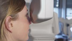 A generic eye scanner machine Stock Footage