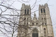 St. Michael and Gudula Cathedral - stock photo