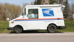 Stock Video Footage of United States postal service Truck.