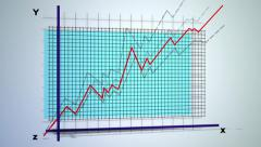 Line graph Stock Footage