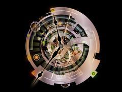 Clockwork Vortex Stock Illustration