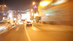 Traffic Flowing, Accelerated Motion Stock Footage