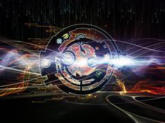 Stock Illustration of Spirit of Digital Processing