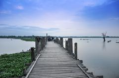 U bein bridge, amarapura, myanmar Stock Photos