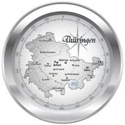 map of thuringia as an overview map in chrome - stock illustration