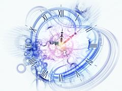 Stock Illustration of Surreal clock concept