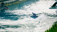 Stock Video Footage of Man On Scooter Jet Ski Showing Amazing Tricks