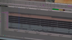 Stock Video Footage of Video Editing Timeline Lot Of Audio Tracks, Media, New, Technology