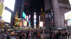 Times Square Time lapse Stock Footage