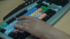 Video Editing Keyboard, Editor Working, Hand Detail, New, Software, Technology - stock footage