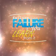 failure is not failure - stock illustration