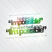 Nothing is impossible Stock Illustration