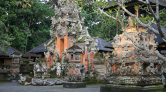Monkey temple in Bali Monkey forest, Indonesia Stock Footage