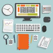 business work elements - stock illustration