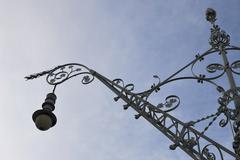 Ornate streetlamp in barcelona. spain Stock Photos