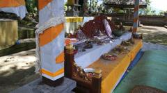 Hindu temple, Indonesia, Bali Stock Footage