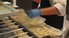 Chef preparing food Stock Footage