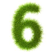 Stock Photo of Grass style Numbers