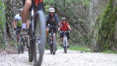 Mountain Bikers Adventure, Cyclist, Cycling, Sport, Bicyclists, Rider - stock footage