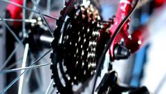 Stock Video Footage of Bicycle rear sprocket