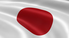 Stock Video Footage of 4K Japan Flag