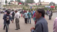 People & traffic/A public place, Kohima, Nagaland Stock Footage