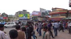 People/traffic/A public place, Kohima town, Nagaland Stock Footage