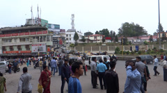 People & traffic/A public place, Kohima, Nagaland 2 Stock Footage