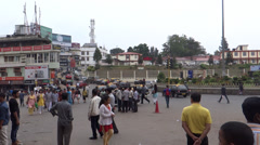 People/traffic/A public place, Kohima, Nagalan Stock Footage