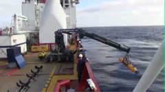 U.S. Navy AUV Bluefin 21 is deployed to search for Malaysia Airlines MH370 Stock Footage