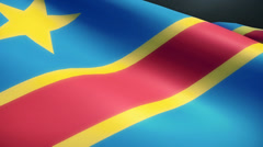 Congo Flag Animation Loop Stock Footage