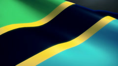 Tanzania Flag Animation Loop - stock footage