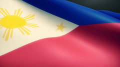 Phillipines Flag Animation Loop Stock Footage