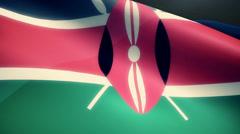 Kenya Flag Animation Loop - stock footage
