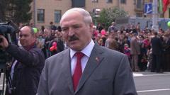 Belarusian President Alexander Lukashenko. Stock Footage