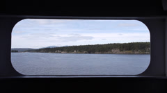 Prevost Island Lighthouse from BC Ferry Stock Footage