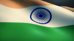 Indian Flag Animation Loop Stock Footage