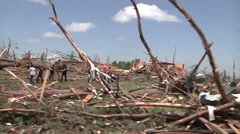 Soldiers conducting search and rescue mission after the tornado in Louisville - stock footage